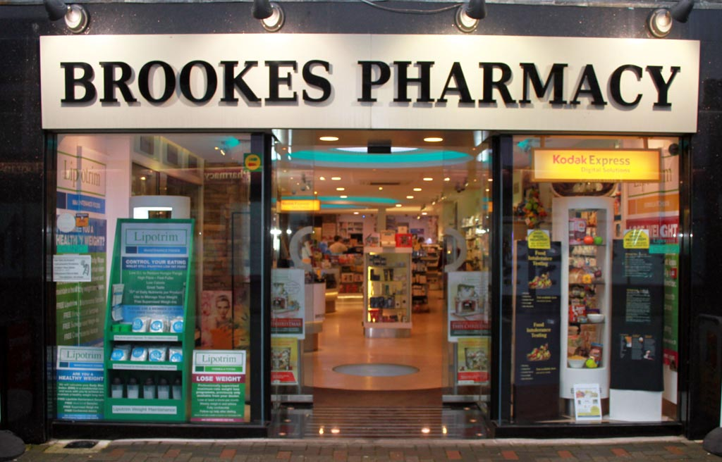 shop front ds - Brookes Pharmacy